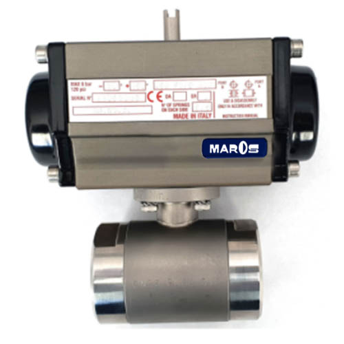 two way ball valve sand blasted