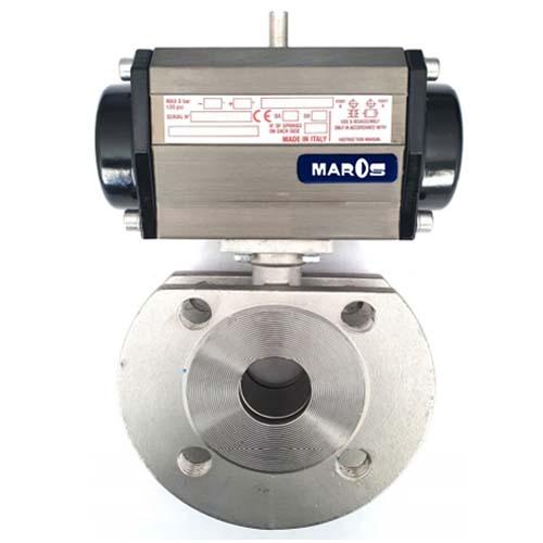 valvola a sfera wafer acciaio inox microfuso maros engineering